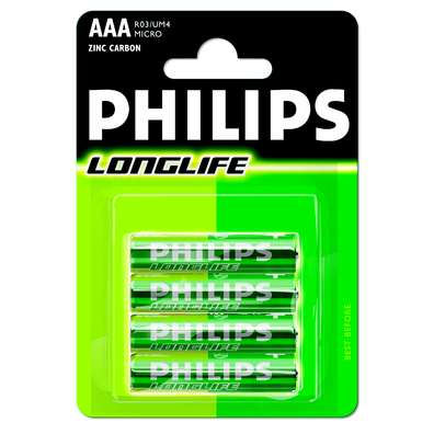 Blister Longlife Mini Penlite Batterij AAA